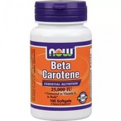 NOW Beta Carotene 25000 100 softgels