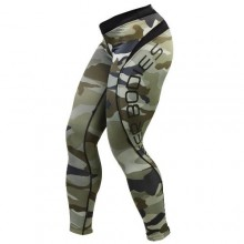 Лосины Better Bodies Camo Long Tight Green Camo