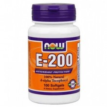 NOW E-200 Da 100 softgels