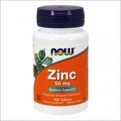 NOW Zinc Gluconate 50 mg 100tabs