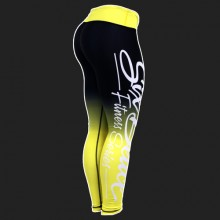 Six Deuce Yellow Two-Toned Fitness Leggings 3.0